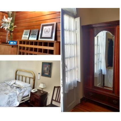 Hotel Palacio: 1-recepción y 2,3-habitación